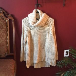 Oversized Cream Knit Sweater